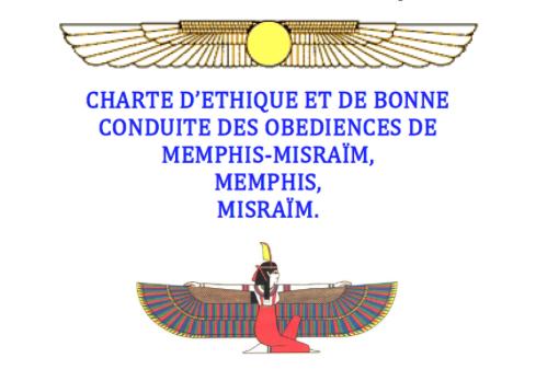 Charte éthique Memphis Misraïm