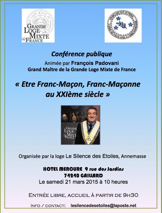 Conférence GLMF à Annemasse