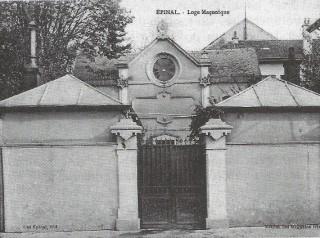 Le Temple de la Fraternité vosgienne, à Épinal au début du XXe siècle.