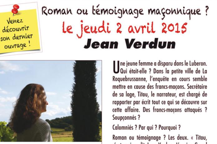 Jean Verdun en dédicace