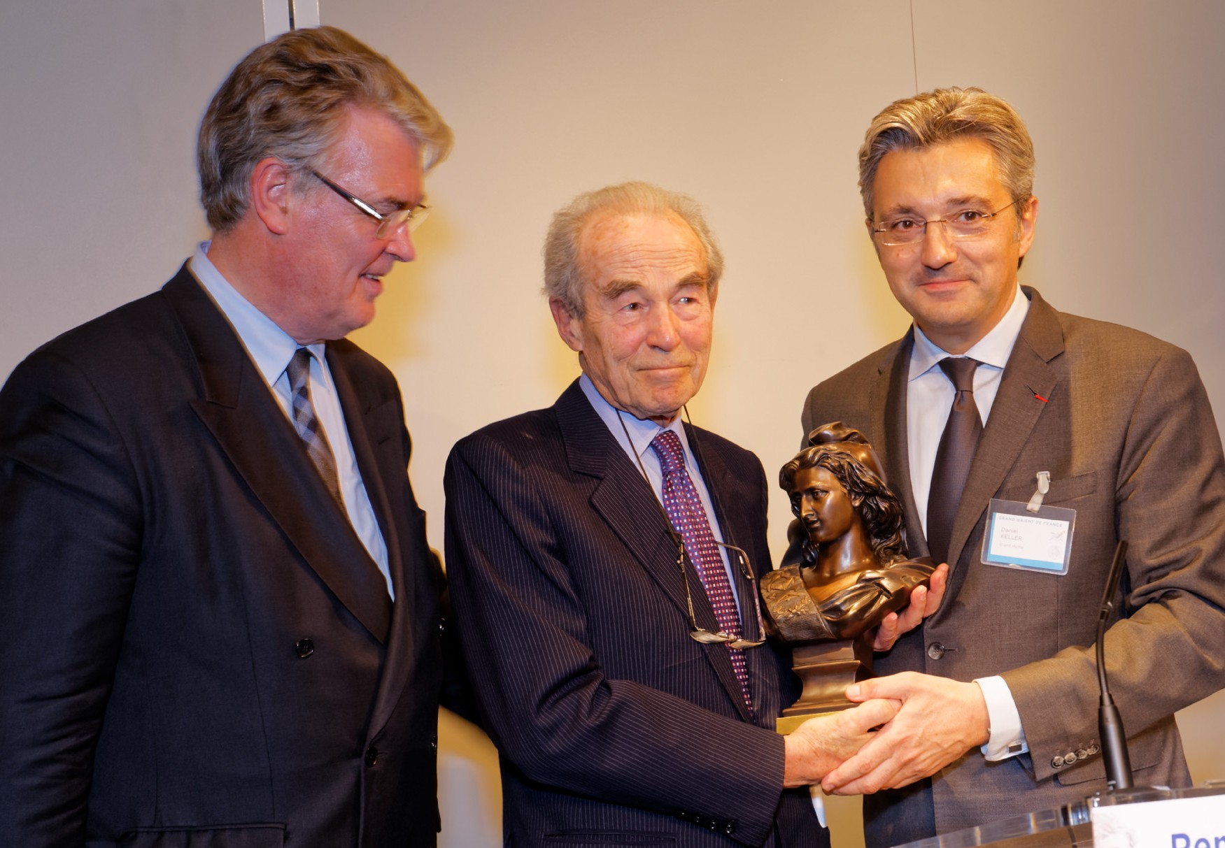 Jean-Paul Delevoye, Robert Badinter et Daniel Keller (Photo Ronan Loaec, GODF)