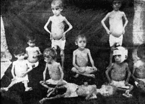 Enfants arméniens recueillis pendant le génocide.