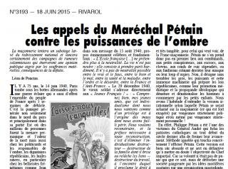 Rivarol Pétain