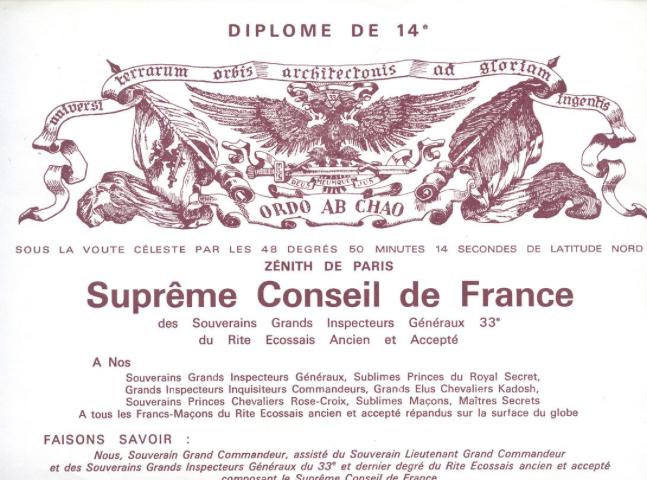 Diplome 14e SCDF