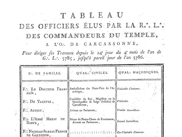 B Franklin Carcassonne