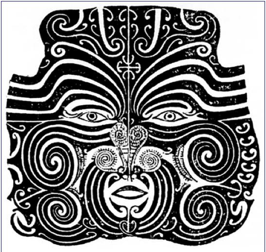 tatouage chef maori