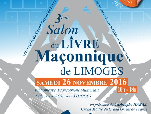 3eme salon du livre ma onnique de limoges ce 26. Black Bedroom Furniture Sets. Home Design Ideas