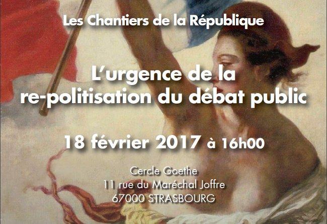 urgence repolitisation du debat public