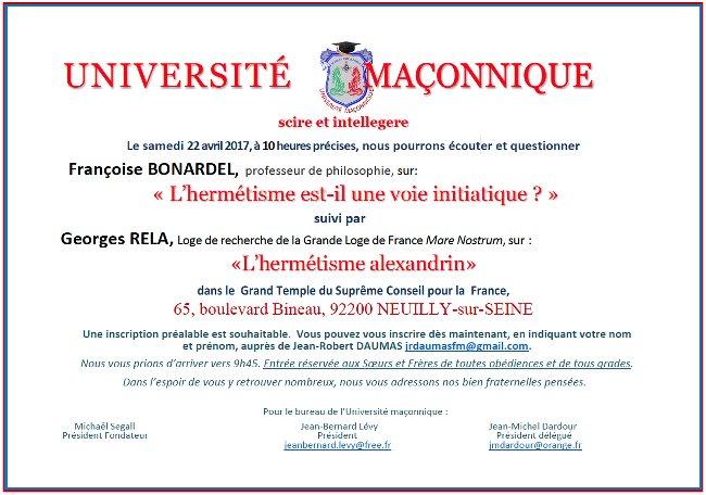Univ Maconnique 220417