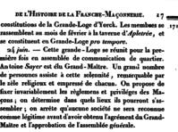 Histoire de la Franche Maconnerie 290617