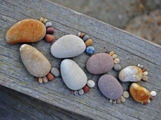 feet rocks