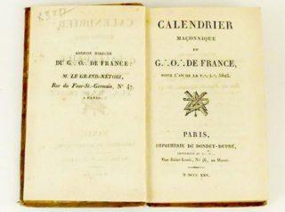 calendrier 1825