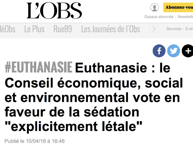 CESE Euthanasie 100418