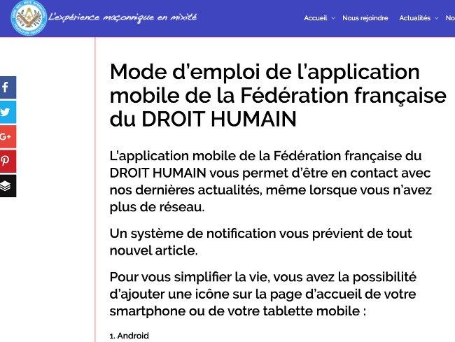 appli mobile DH
