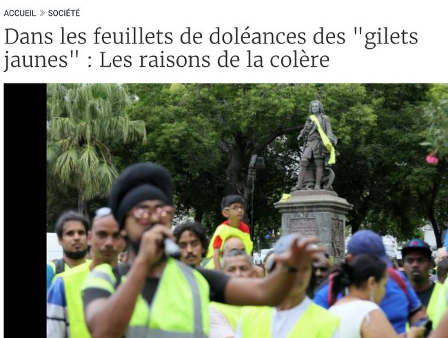 G Jaunes La Reunion
