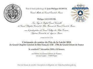 Prix Laicite GCG 2018