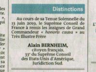 A Bernheim Grand Commandeur