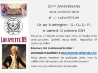 30 ans Loge Lafayette