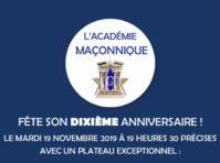 10 ans Academie Maconnique