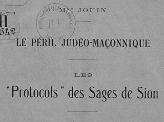 Mgr Jouin Peril judeo maconnique