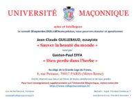 Univ maconnique 280919