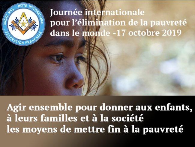 journee mondiale pauvrete